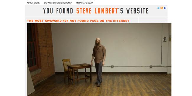 Steve Lambert 404 error page