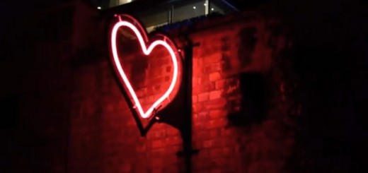 Glowing heart, a little piece of love